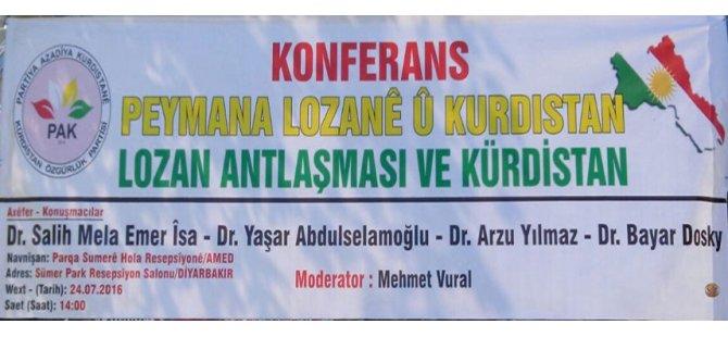 Konferans:''Peymana Lozanê û Kurdistan''