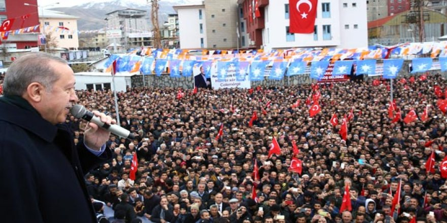 Ji bajarên derdor xelk veguhastin mitînga Erdoganî