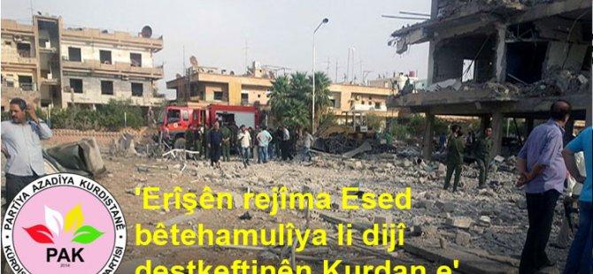 Êrîşên rejîma Esed, bêtehamulîya li dijî destkeftinên Kurdan e