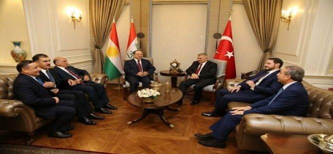 Serokê Herêma Kurdistanê û Serokwezîrê Tirkiyê civiyan