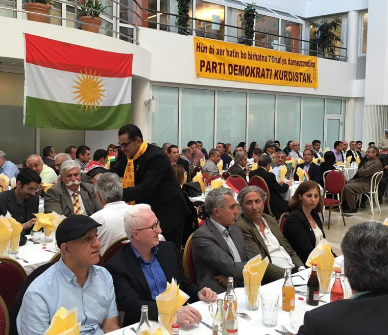 Li Paytexta Swêdê Stockholm 70 saliya PDK-Iraq hat pîrozkirin