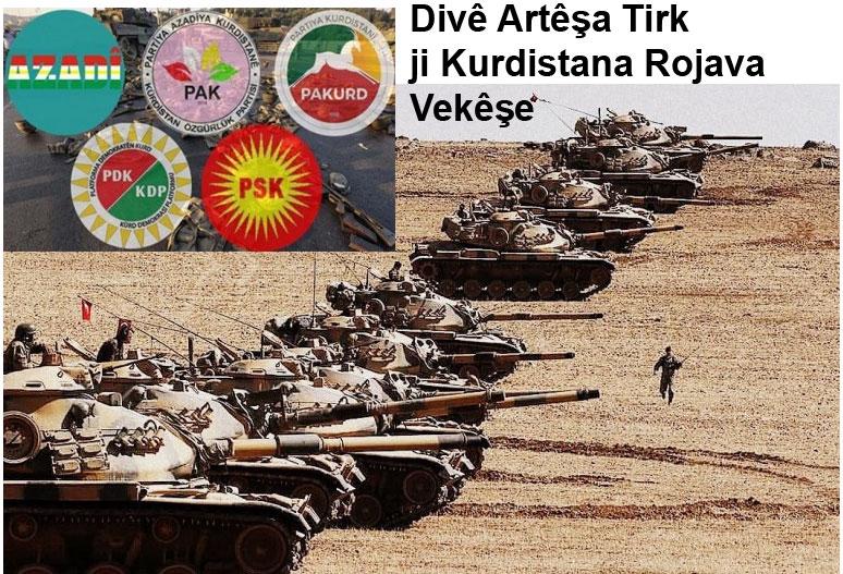 Divê Artêşa Tirk ji Kurdistana Rojava vekêşe