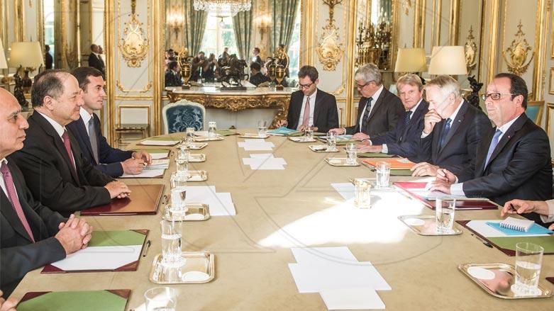 Fransa: Hollande pêşewazî li Barzanî kir