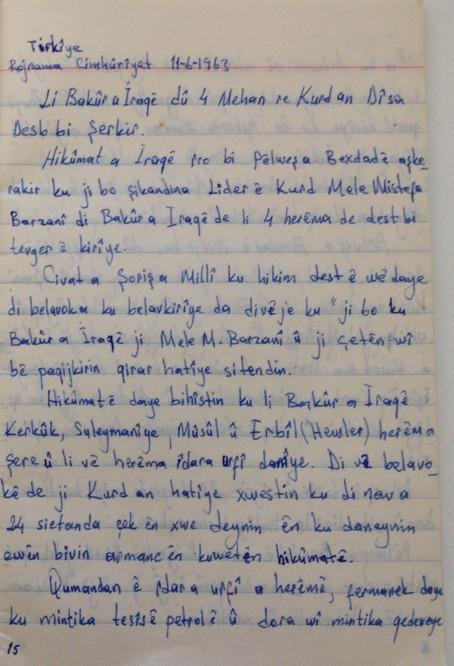 Şoreşa Îlonê di Rojnameya Cumhuriyetê ya di 11.06.1963 de