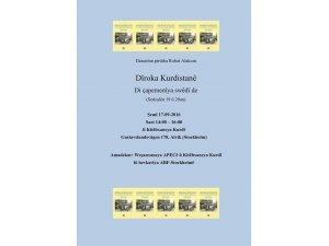 Dîroka Kurdistanê di çapemenîya swêdî de; 17-09-2016