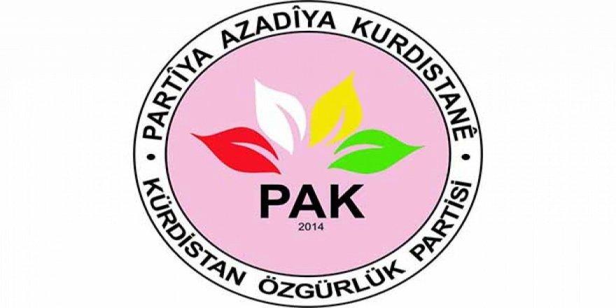 PAK: Şer û hêrişê Dewleta Tirkîya û çalakîyê çekdarî yê PKK gere biqedîyê