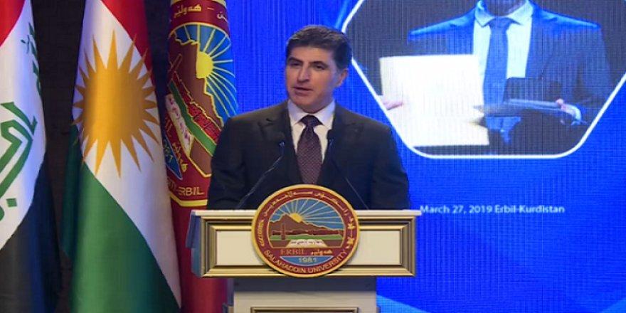"""Nêçîrvan Barzanî: """"Zanîngeha Kurdistanê di her warî de derîyê xizmetê vekiriye."""""""
