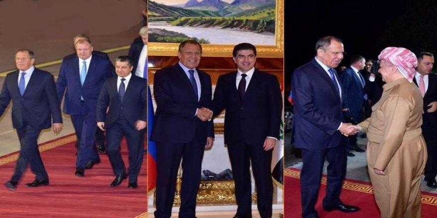 Lavrov ligel serkirdeyên Kurdistanê civîya