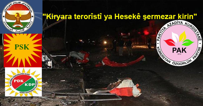 """""""Kiryara terorîstî ya li Hesekê şermezar dikin """""""