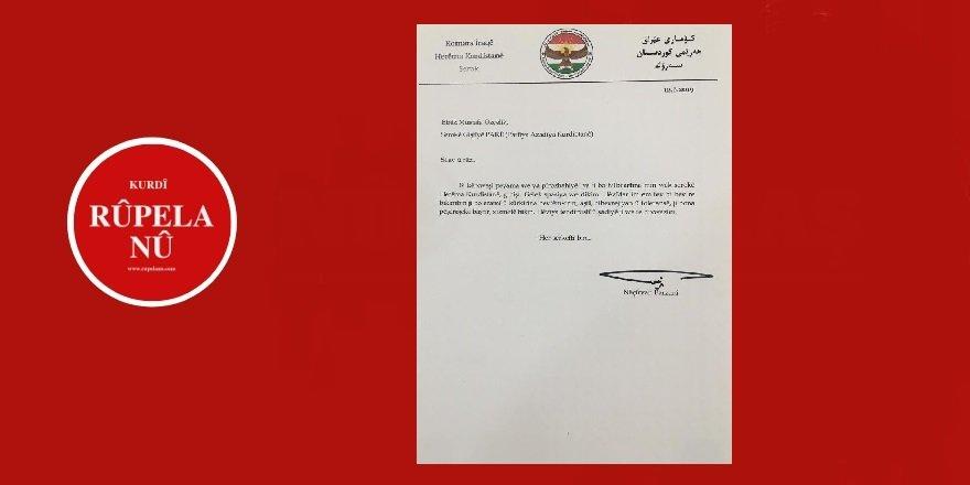 Nêçirvan Barzanîyî, Serekê PAKî Mustafa Özçelikî rê sipas kerd
