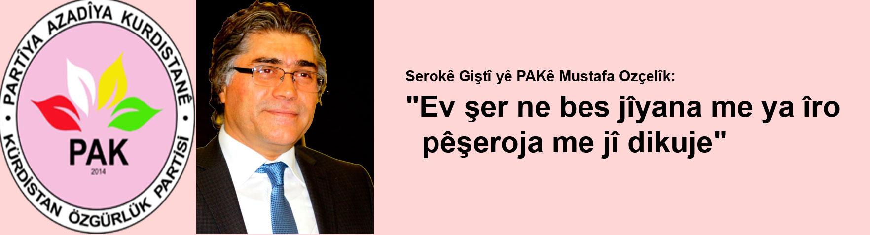 """""""Pirsa Kurd û Kurdistanê ne pirsa terorê yan jî ya aborîyê ye"""""""