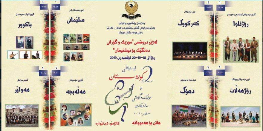 Li Hewlêrê festîvala Kurdistanê ya mûzîk û stranan birêve diçe