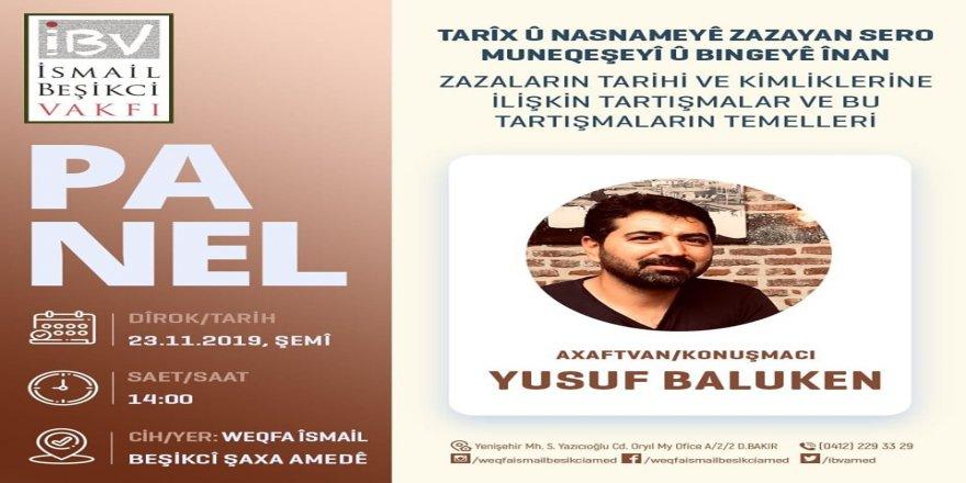 Cigêrayox Yusuf Balûkenî ra Tarîx û Nameyê Zazayan ser o Panêl