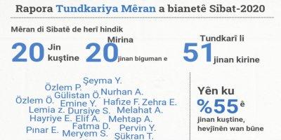 Li Tirkîyê meha Sibatê 22 jin hatine kuştin