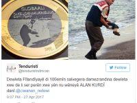 Finlandîya: Rismê Alan Kurdî li ser pereyê hesinî