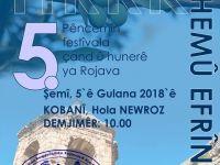 HRRK 5. Festivala xwe bi durişma 'Em hemû Efrînî ne' li Kobanê li dar dixe