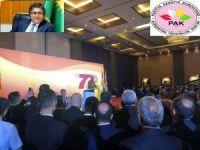 Serokê Gişî  yê PAKê Mustafa Özçelik 72yemîn Salvegera  Damezrandina PDKyê Pîroz Kir