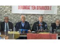 Namzetên Serbixwe yên Amedê yên Tifaqa Welatperwer û Demokrat digel rojnamevanan civiya